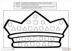 Couronne et formes géométriques | MC en maternelle Nursery Activities, Math Activities, Splat Le Chat, Fairy Tale Crafts, Petite Section, Grande Section, School Themes, Teacher Hacks, Education