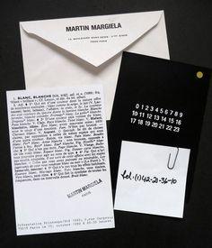 Madison Martin Margiela invite