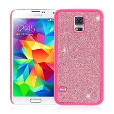 Samsung Galaxy S5 / GS5 - Dotted Glitter Glam Hot Pink (EMPIRE GLITZ Slim-Fit Case)