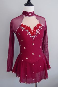 Gently Used Sample Figure Skating Dress by StaceyEcklandDesigns