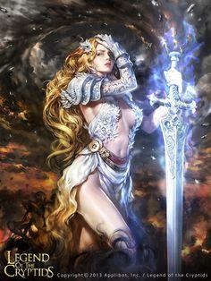 (Roar)Proserpina #art, #digitalart, #sword