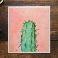 - Cactus - Are you a sucker for succulents? This cactus watercolor is prickly with prettine. Are you a sucker for succulents? This cactus watercolor is prickly with prettiness! See how this watercolor painting comes to be. Watercolor Cactus, Cactus Painting, How To Watercolor, Cactus Drawing, Water Colour Painting Ideas, Succulents Painting, Watercolor Beginner, Watercolor Water, Water Colors