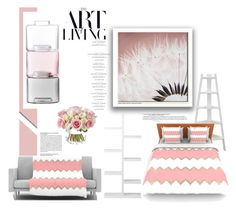 """""""Pink: Art Of Living"""" by emcf3548 ❤ liked on Polyvore featuring interior, interiors, interior design, home, home decor, interior decorating, Danya B, Kess InHouse, Homestar and Graham & Brown"""