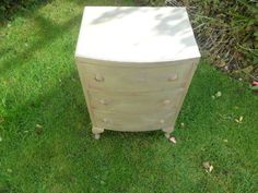 VINTAGE PAINTED WOODEN CHEST OF DRAWERS shabby chic | eBay