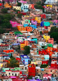 "fuckyeahlatinamericanhistory: "" Favelas in Rio de Janeiro, Brazil. No, this is actually Guanajuato, Mexico. Places Around The World, Oh The Places You'll Go, Places To Travel, Places To Visit, Around The Worlds, Favelas Brazil, Beautiful World, Beautiful Places, Simply Beautiful"