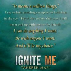 Ignite Me Teaser Quote