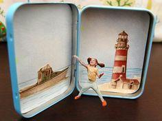 Mini 3D picture box out of an Altoids tin