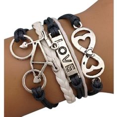 Bike Love Arm Party Bracelet - $14.00