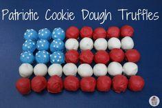 Patriotic Cookie Dough Truffles | Recipe on HoosierHomemade.com