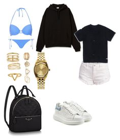 """""""Untitled #202"""" by madisonkiss on Polyvore featuring Topshop, Alexander McQueen, Yves Saint Laurent, Maison Margiela, ChloBo and Nixon"""