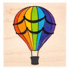 Hot Air Balloon 02 Rubber Stamp