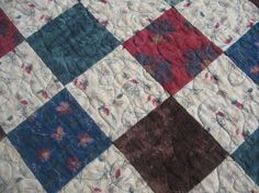 Flannel North Woods Quilt - Pine cones, bears, pine trees - great for dad, husband, brother