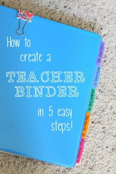 Make a teacher binder