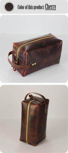 53ff51d21d Mens dopp bag travel dopp kit leather toiletry kit mens dopp mens wash bag  gift for him leather make