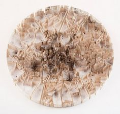 Paper Map Sculpture of Coventry by Matthew Picton  http://matthewpicton.com/