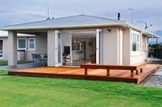 renovated 1960 nz state houses - Google Search House Makeovers, Cottage Renovation, Home Remodeling, House Renovations, Deck Design, Home Reno, Bungalow, Shed, Outdoor Structures