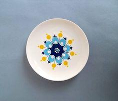 Retro plates floral plate pair of plates Bavarian by BravaVintage, $17.50