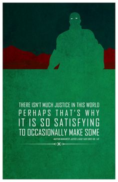 Superheroes and words of wisdom - Martian Manhunter