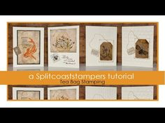 An online community for art stampers and scrapbookers Used Tea Bags, Split Coast Stampers, Tea Bag Art, Hand Stamped Cards, Stamp Printing, Card Tutorials, Diy Cards, Stampin Up Cards, Making Ideas