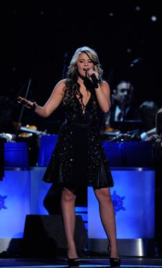 "Country newcomer and 2011 ""American Idol"" runner-up Lauren Alaina performs ""My Grown Up Christmas List"" during 2011 ""CMA Country Christmas"" on ABC (12/1/11)."