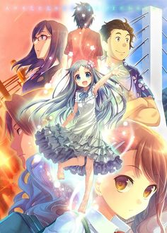 One of the best animes I've seen AnoHana (The Flower we saw that day) Sad Anime, Anime Love, Kawaii Anime, Manga Anime, Anime Art, Angel Beats, Vocaloid, Menma Anohana, Tamako Love Story
