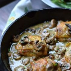 Chicken with Wine and Garlic