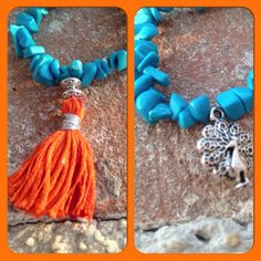 Turquoise Peacock Bracelet - dailyetsysales on Etsy, 15,00€