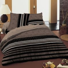 SoulBedroom Mystic – Cotton Bed Set (Duvet Cover & 1 or 2 Pillow Cases, Cotton, brown, Double Bed Cotton Bedding Sets, Bed Linen Sets, Duvet Bedding Sets, Linen Bedding, Geometric Bedding, Duvet Cover Design, Double Beds, Pillow Covers, Houses