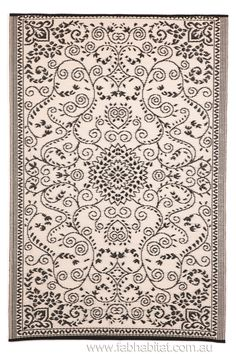 Murano Recycled Plastic Outdoor Rug Black And White   Floorsome