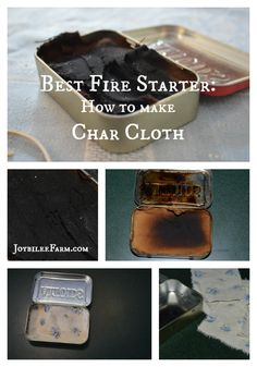 Best Fire Starter -- How to Make Char Cloth