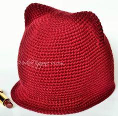 Как вязать шапочки с ушками крючком - Crochet - Modnoe Vyazanie