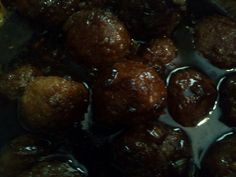 Teriyaki meatballs yummy.