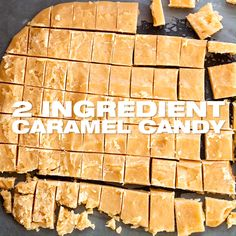 Old Fashioned Caramel Candy Recipe - prepared with 2 ingredients only, this caramel hard candy recip Caramel Hard Candy Recipe, Hard Candy Recipes, Caramel Recipes, Fudge Recipes, 2 Ingredient Desserts, Candied Almonds, Easy Baking Recipes, Christmas Crack, Christmas Holidays