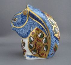 Crown Derby Blue Squirrel