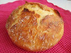 Най-лесният селски хляб без месене | Всеки може да готви