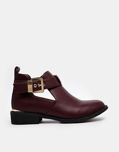 River Island - Jennie - Bottines à découpes - Rouge