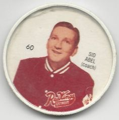 Sid Abel 1960-61 Detroit Red Wings SHIRRIFF Hockey Coin # 60 NM-MT