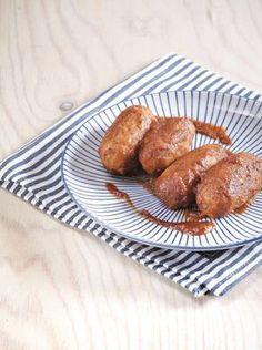 σουτζουκάκια από φάβα Mediterranean Recipes, Vegan Recipes, Vegan Food, French Toast, Food And Drink, Pork, Vegetarian, Bread, Vegetables
