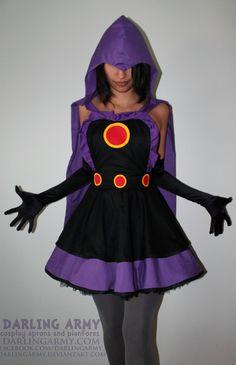 Raven Teen Titans Cosplay Pinafore by DarlingArmy.deviantart.com on @deviantART