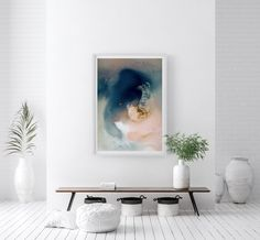 Caught in a storm | Mariëtte Kotzé  |  Blue + Pink + White Abstract | Giclée print | Limited Edition White Ink, Pink White, Micro Photography, Colorful Clouds, Ink Wash, Dark Art, Giclee Print, Fine Art Prints, Tapestry