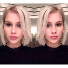 Icy Blonde + Bobcat Cut for @ClaireHolt ❄️⚡️✂️ Meeeeooowww!!! New Year=New Hair! Such a beauty #girlcrush #haircolor #haircut by #sunniebrook sunniebrook (Sunnie Brook) on Instagram