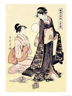 Upper Class Women Julisteet tekijänä Kitagawa Utamaro AllPosters.fi-sivustossa