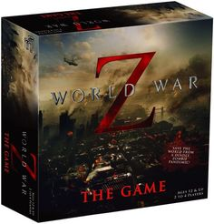 "In World War Z: The Game, a strategy game based on the movie and book of the same name, players work together to stop the spread of the zombie pandemic across the globe. Two to four players begin the game by choosing an ability-granting Role Card and starting in the United States. Players roll a die to initiate the zombie threat, represented by horde tokens of strengths 1 through 4 placed in zones around the board. Special ""grey zones"" represent lack of intel by featuring fa..."