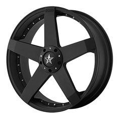 "KMC Wheels Rockstar Car KM7757 Matte Black Finish Wheel (18x8""/5x114.3mm) - http://musclecarheaven.net/?product=kmc-wheels-rockstar-car-km7757-matte-black-finish-wheel-18x85x114-3mm"