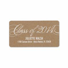 Just Beautiful Graduation Labels - Craft