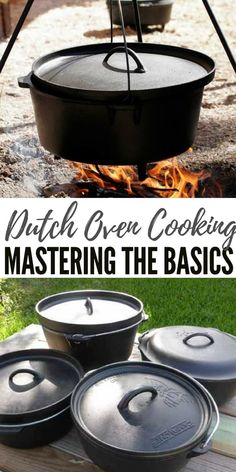 Dutch Oven Cooking - Mastering the Basics - When it comes to Dutch oven cooking, one needs to learn about storage and seasoning, how to correctly use it the first times and how temperature control works. Besides this you will also need the proper tool to Cast Iron Dutch Oven, Cast Iron Cooking, Oven Cooking, Cooking Tips, Cooking Classes, Camp Fire Cooking, Outdoor Cooking Recipes, Cooking Lamb, Cooking Salmon