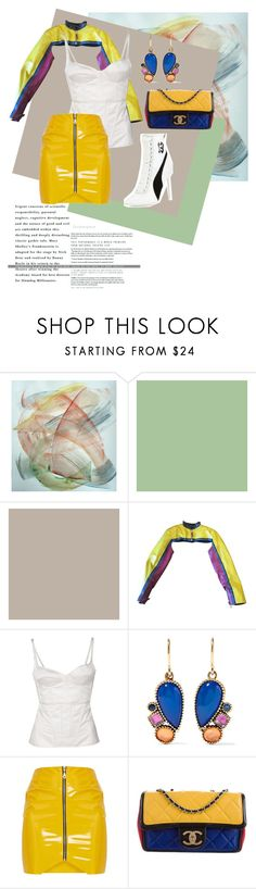 """""""+NOVENTAS+"""" by lostinmcqueen ❤ liked on Polyvore featuring Jean-Paul Gaultier, Theyskens' Theory, Larkspur & Hawk, Chanel and Puma"""