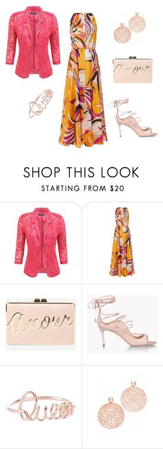 Bring me colours by laura-paasivirta on Polyvore featuring Emilio Pucci, Dsquared2, BCBGMAXAZRIA, Bronzallure, lace, Trendy and rosegold