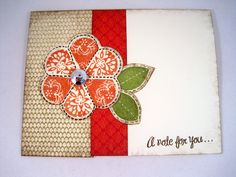 CTMH Just for you Stamp set was used on this card!