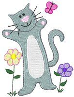 Embroidery | Free Machine Embroidery Designs | Bunnycup Embroidery | Fabulous Felines